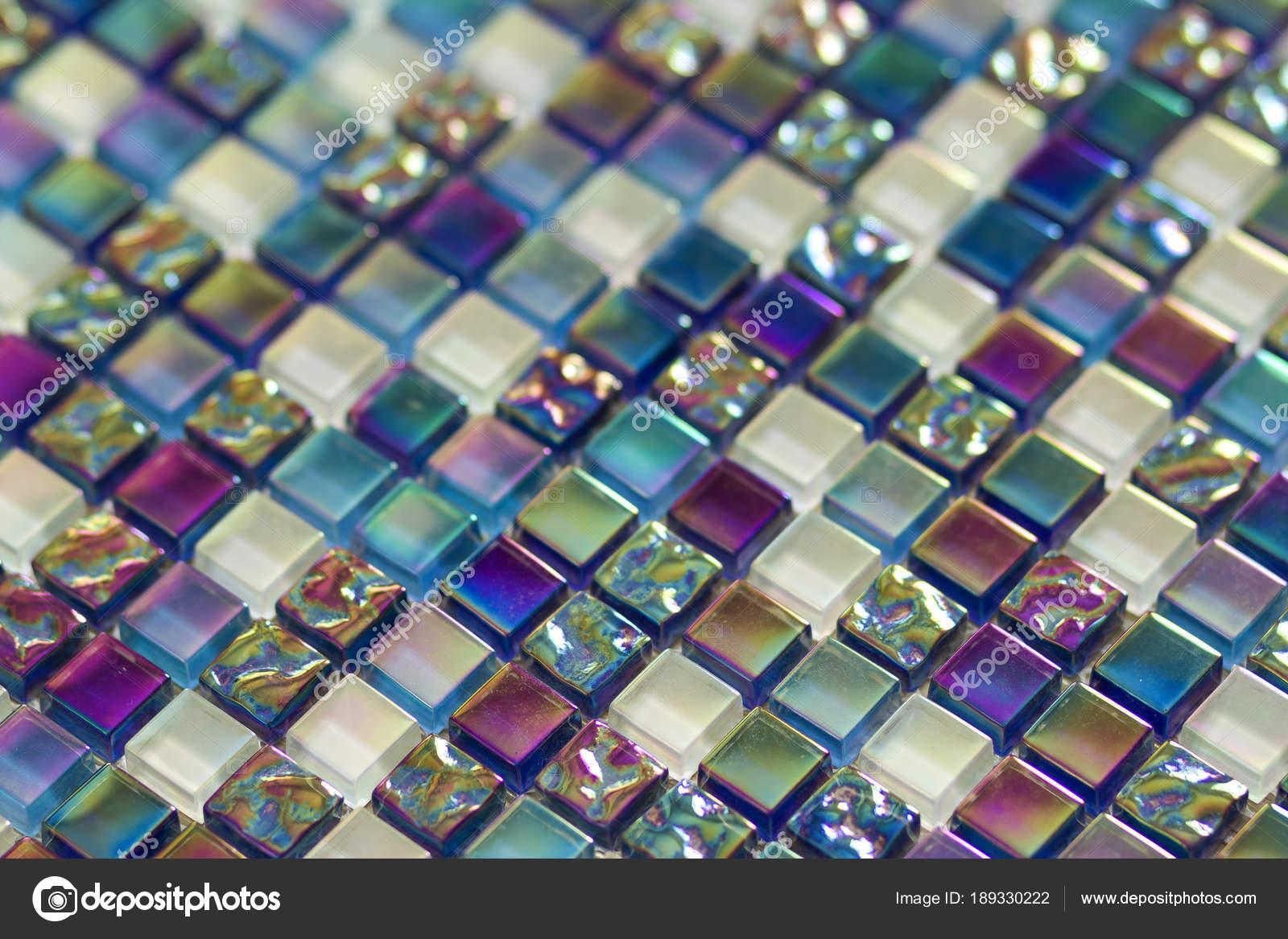 Geometric blue, purple and green mosaic tiles pattern. Wallpaper ...