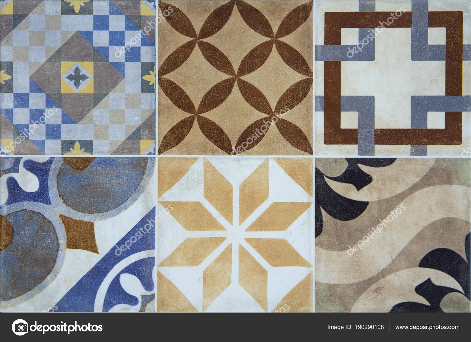 Piastrelle di ceramica colorate con priorità bassa del reticolo di