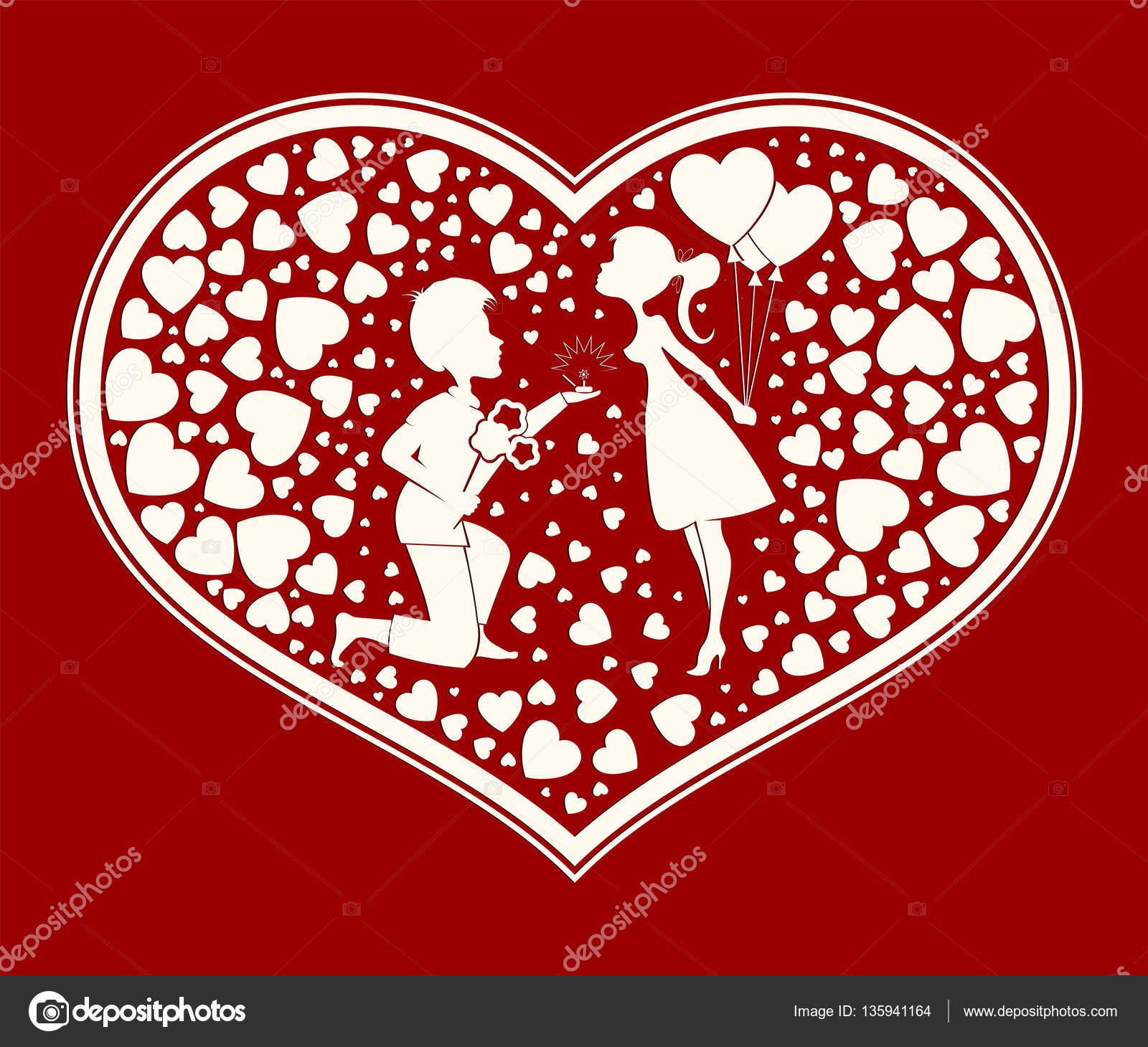 love the couple inside the heart — Stock Vector © altadi3.ukr.net ...