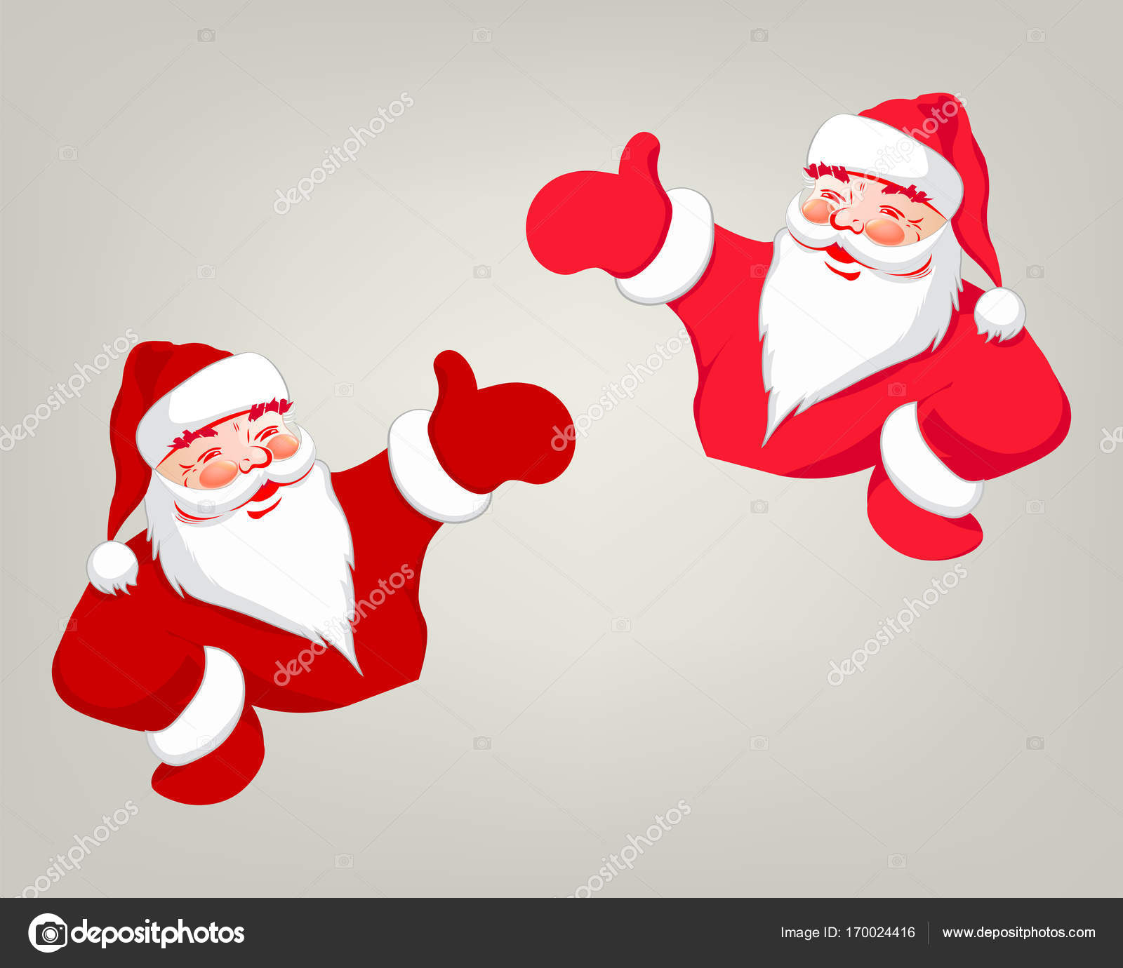 Dessin Du Père Noël De Couleur Rouge Image Vectorielle
