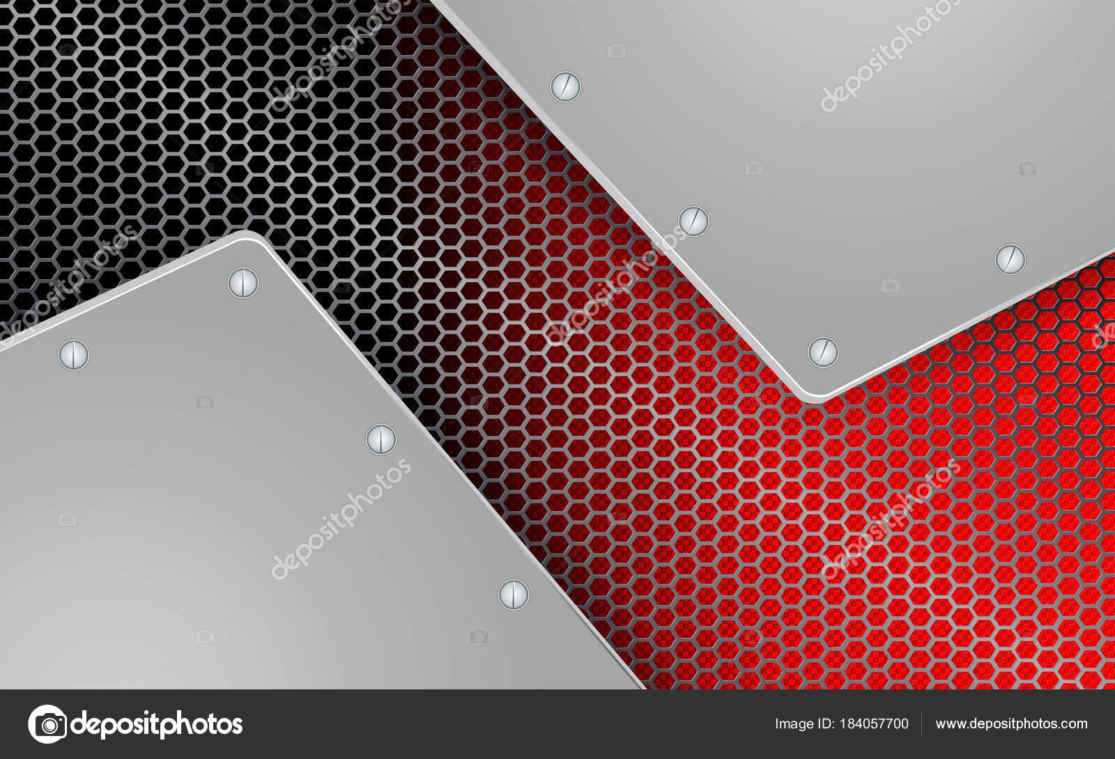 geometrischen Hintergrund mit Metallgitter mit zwei frames ...