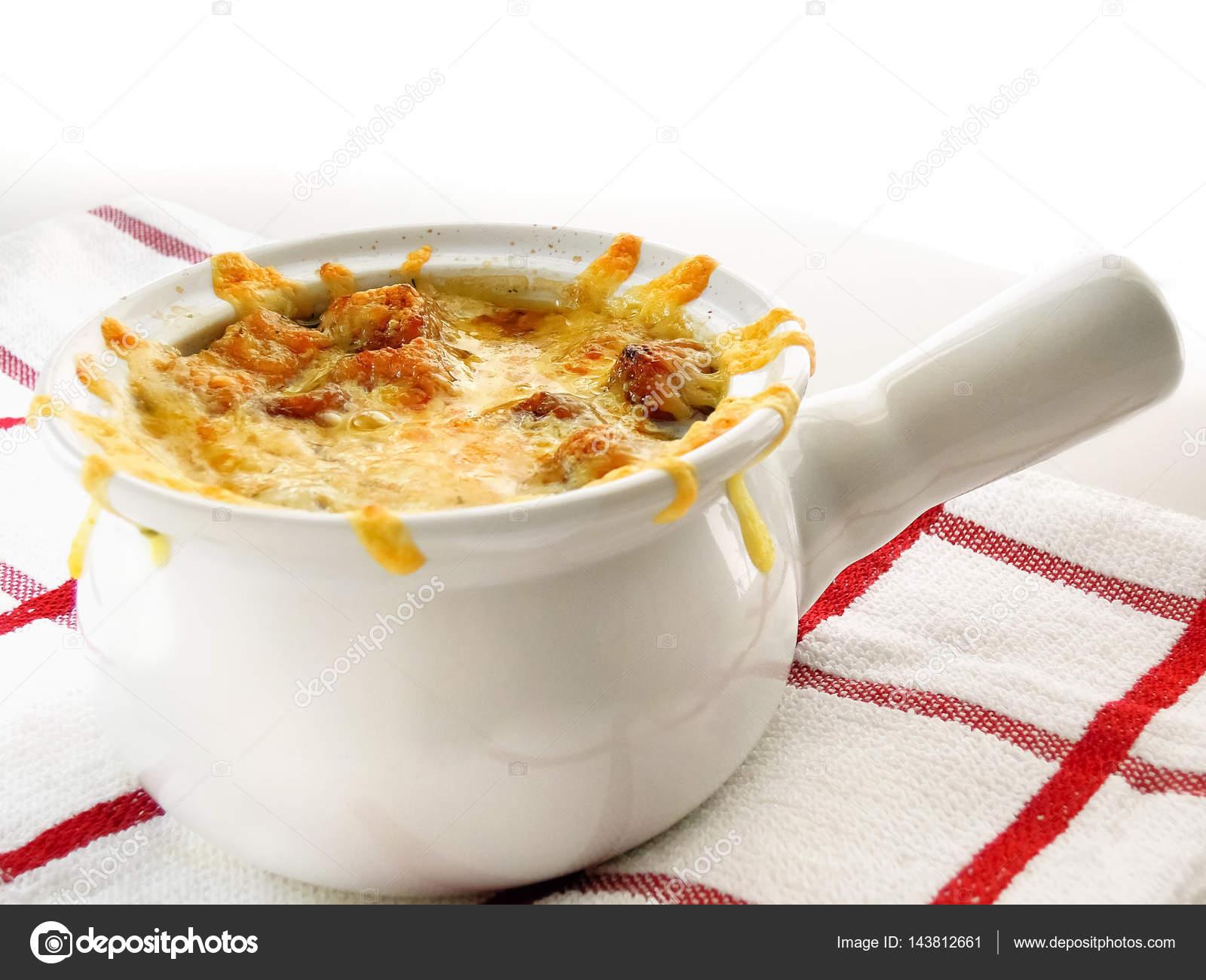 Klassische französische küche  Französische Zwiebel Suppenschüssel — Stockfoto © Louno #143812661