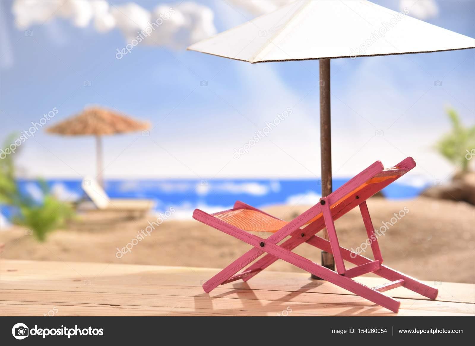 Pink Beach Chair Stock Photo C Srisomthavil Gmail Com 154260054