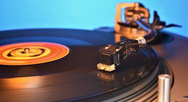 vinyl record being played fantasy light mood