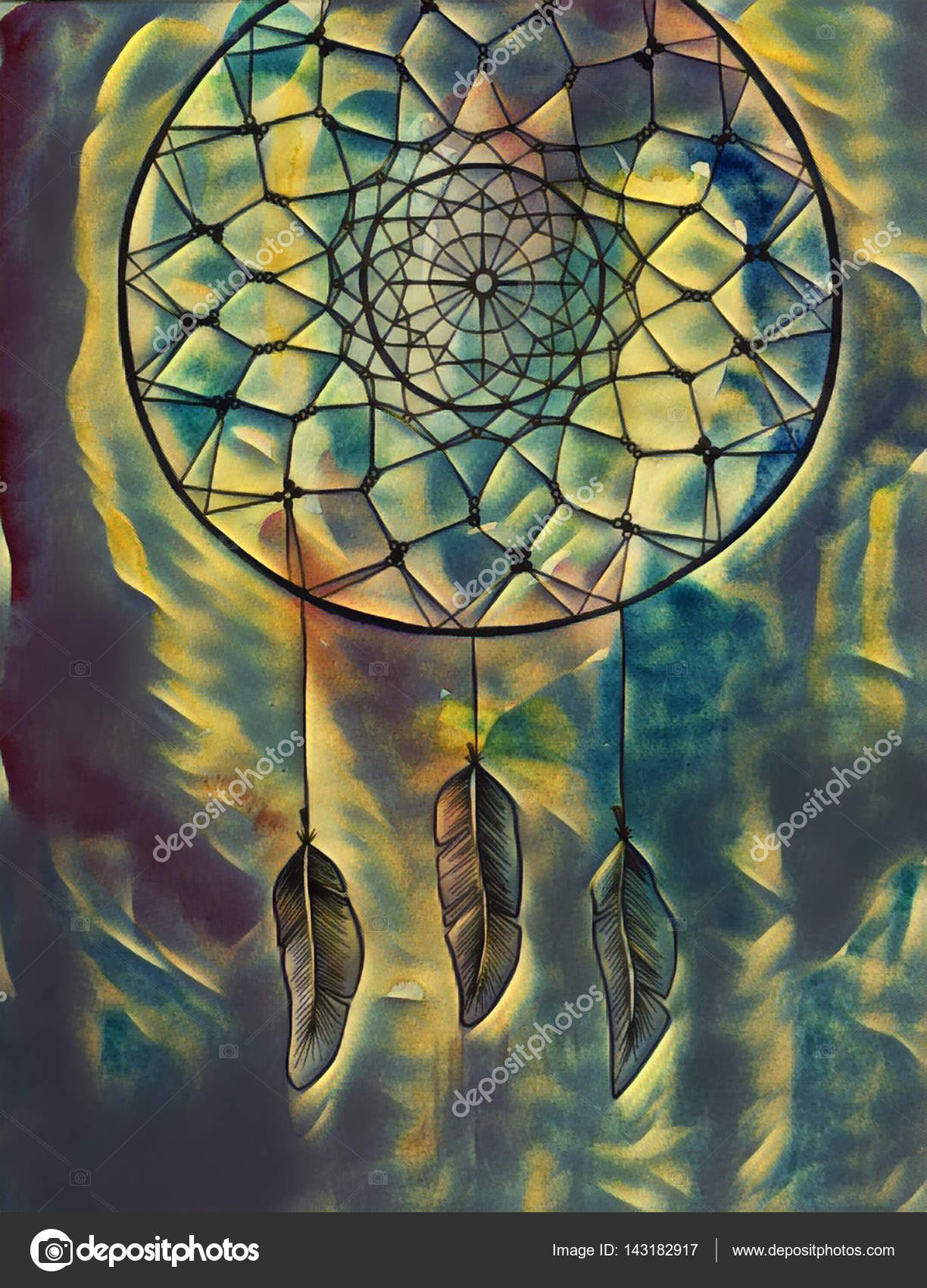 Dream Catcher Abstract Painting Dreamcatcher Digital