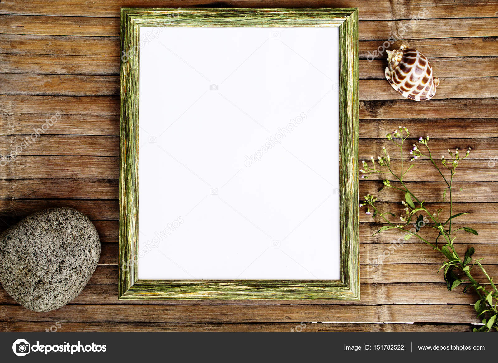 Blank page in vertical wooden frame photo background. Rustic wooden ...