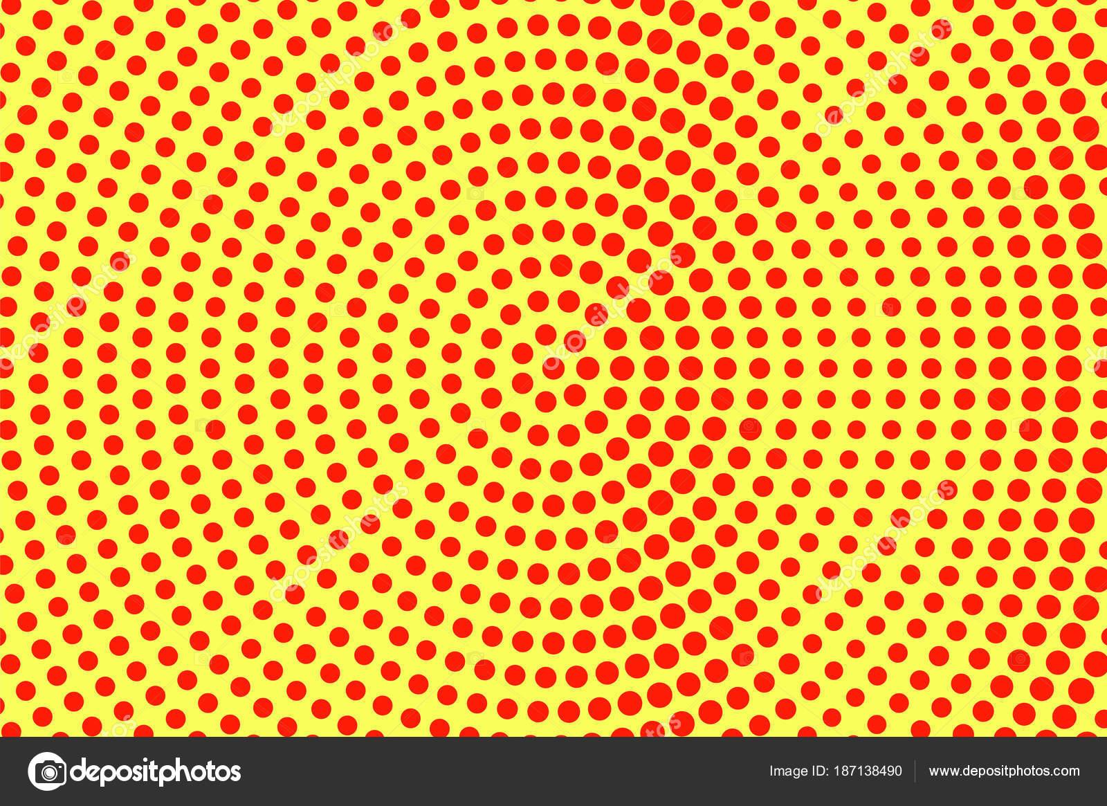 Amarillo rojo puntea trama de semitonos. Gran tamaño radial ...