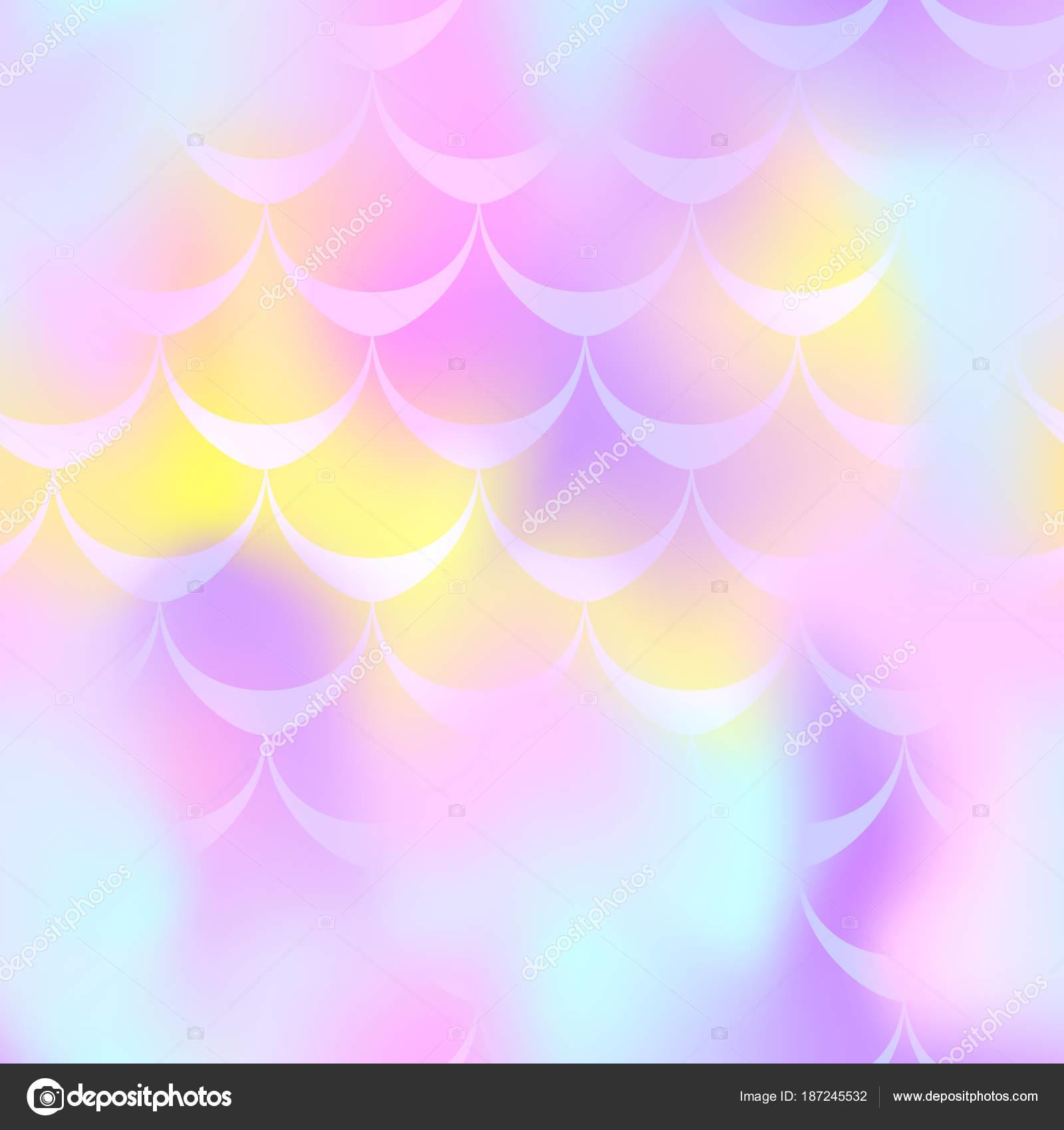 Fondo de vector de color de rosa amarillo sirena escala. Pastel ...