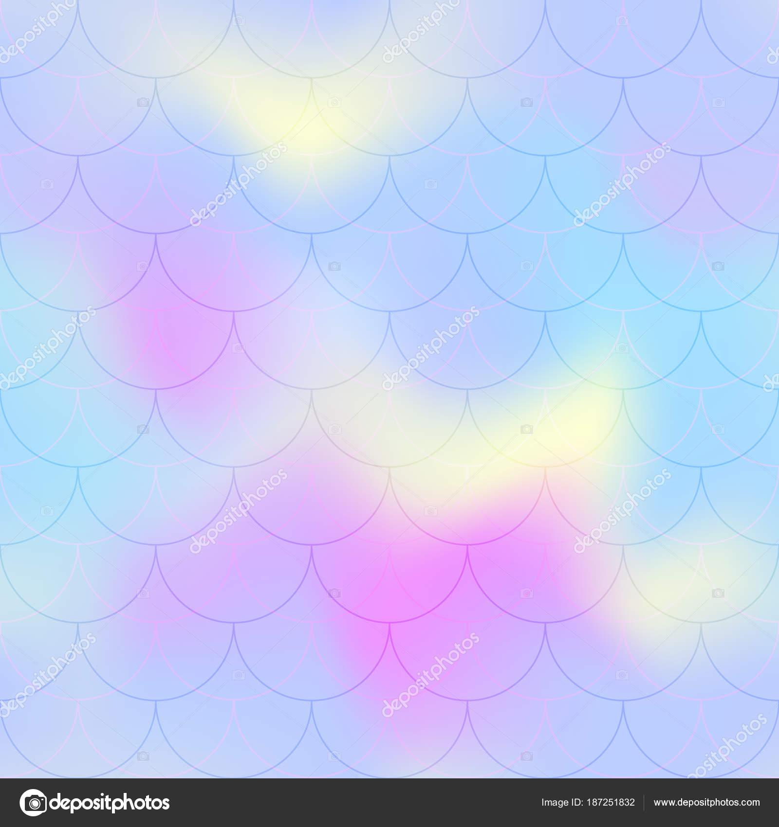 Fondo de vector de color de rosa azul sirena escala. Pastel fondo ...