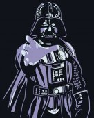 Darth Vader vector illustration print