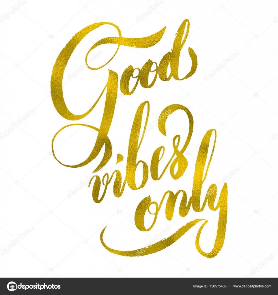 Moderne Kalligraphie Inspirierende Angebot Gute Stimmung Nur