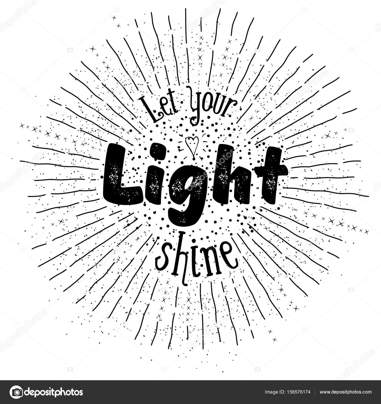 Let Your Light Shine Inspirational Quote Stock Vector Polaolka