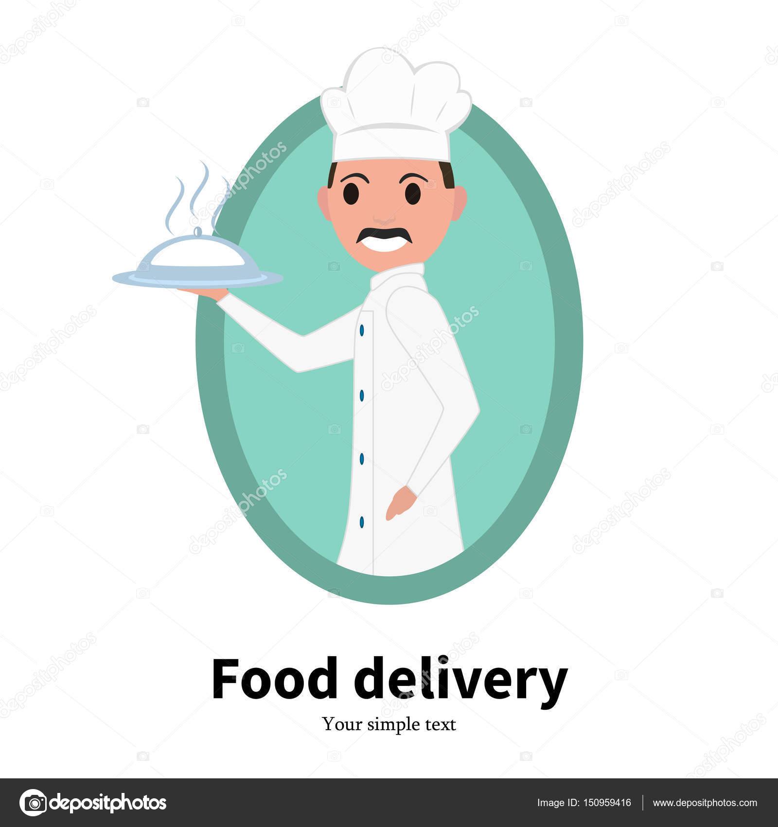 Cuisinier Chef Masculin De Portrait De Dessin Animé De L
