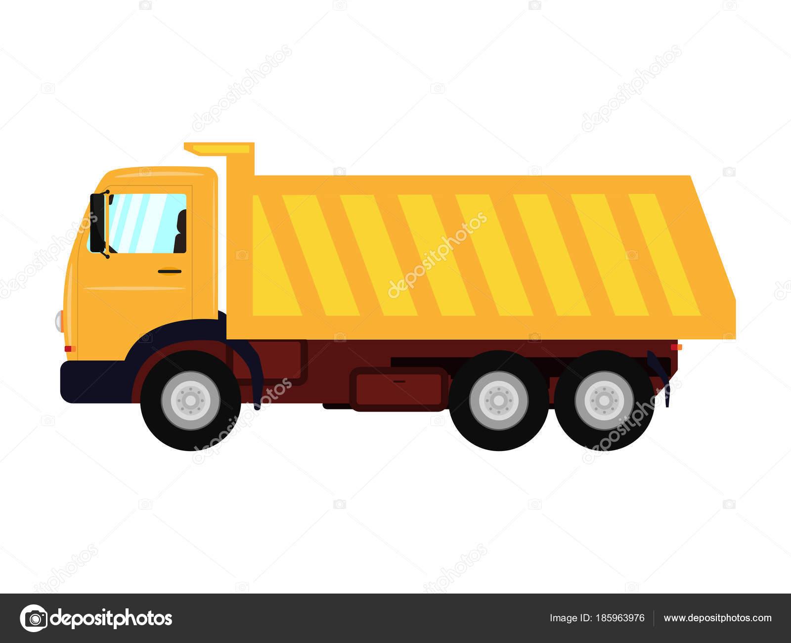 卡通卡车_卡通黄色卡车的矢量图解 — 图库矢量图像© jenyakot86.gmail.com #185963976