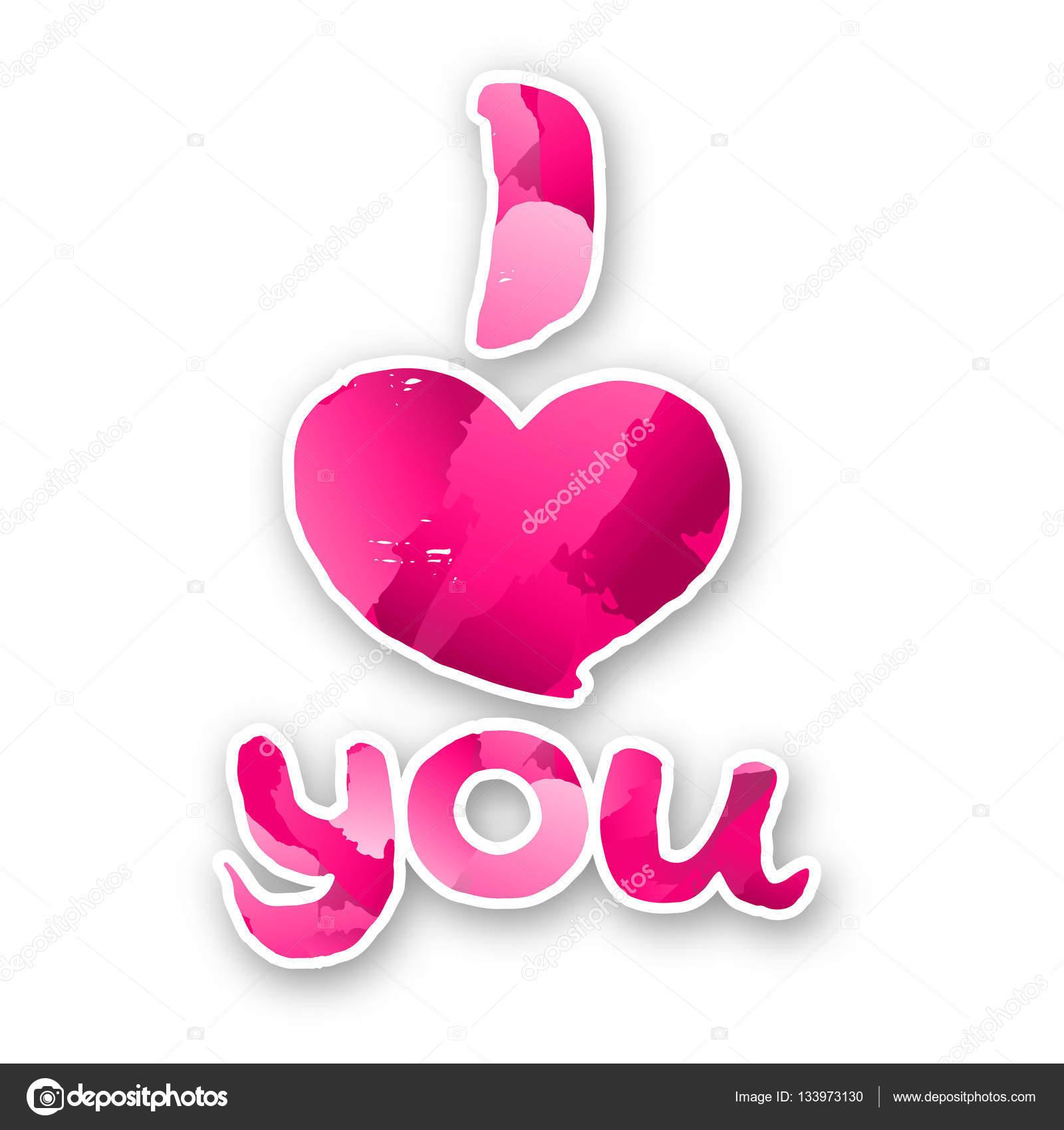 Te quiero. Tarjeta de San Valentín de vectores. Fondo de amor ...