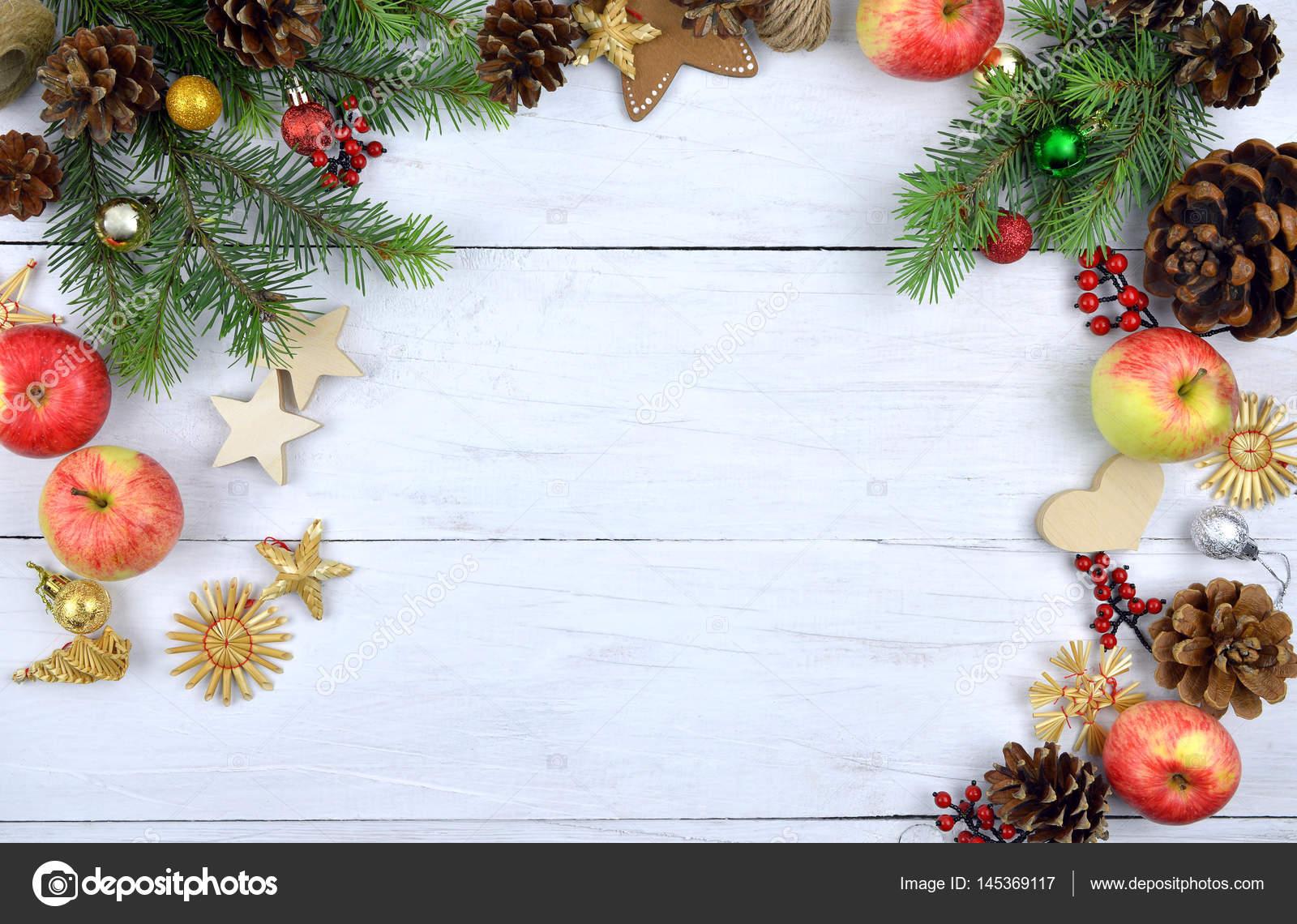 Feestdagen Natuurlijke Kerstdecoratie : Kerst houten achtergrond rustieke natuurlijke elementen
