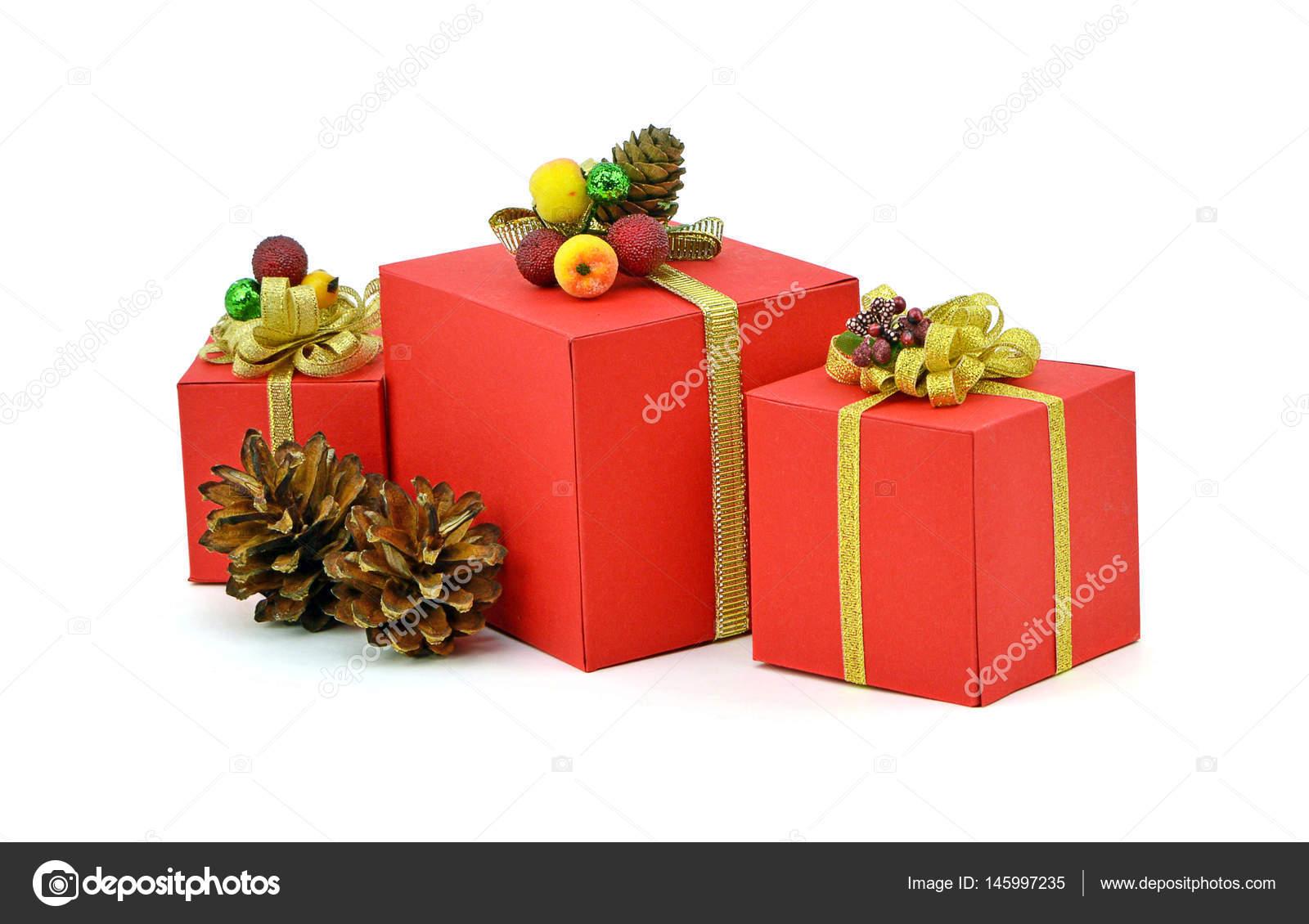 Immagini Pacchi Di Natale.Pacchi Di Natale Rosso Scatola Isolamento Nuovo Anno