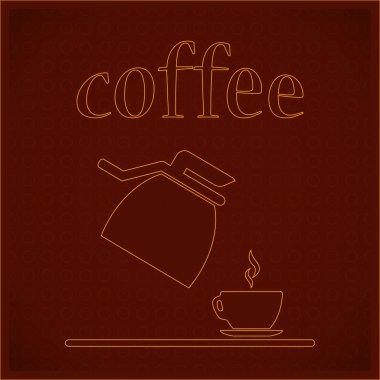 Coffee time.  coffee label . coffee time/ coffee break/  enjoy y