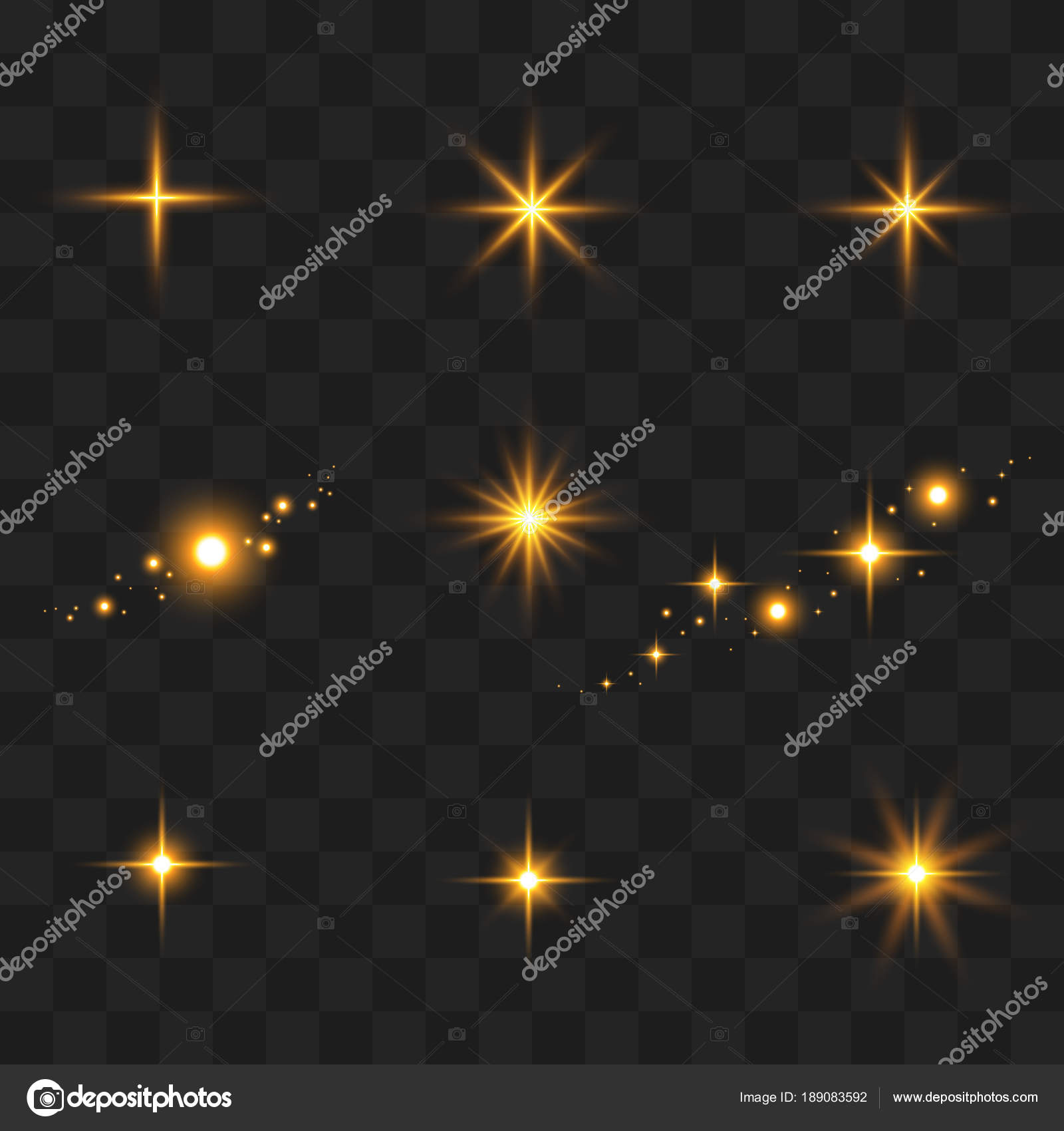 golden glitter lights and sparkles shining star sun particles stock vector fosonya 189083592. Black Bedroom Furniture Sets. Home Design Ideas