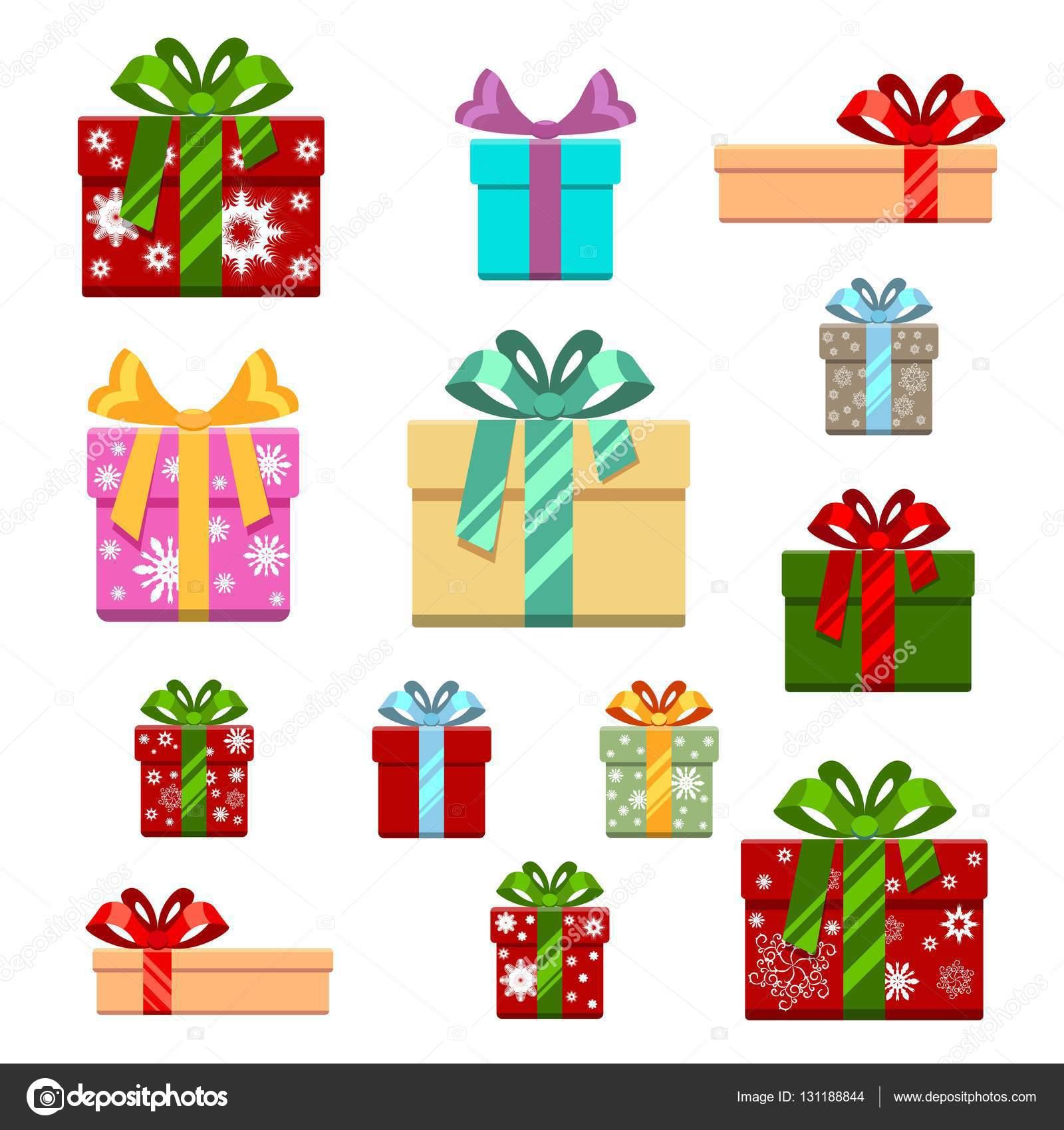 Cajas De Regalos Animados De Cumpleaños Conjunto De Caja De Regalo