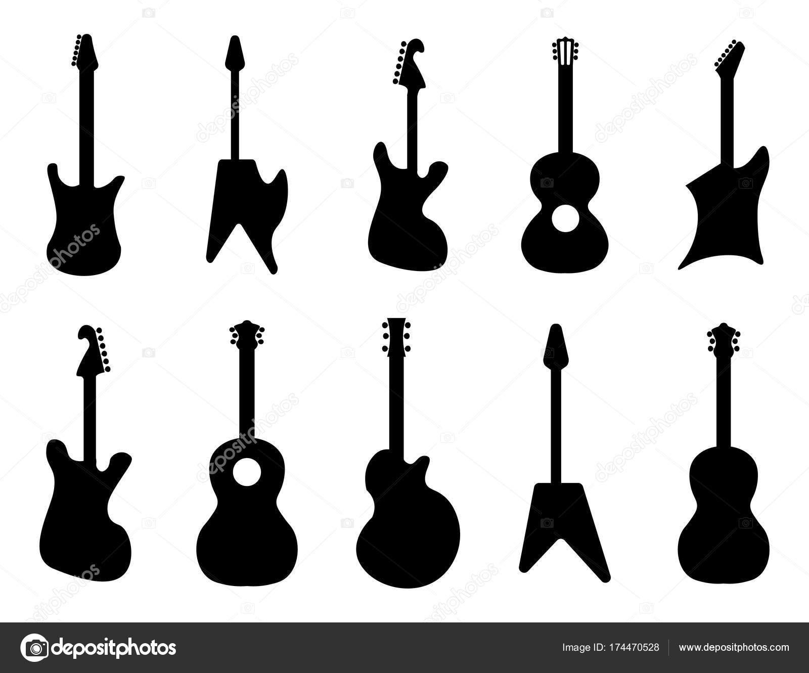 Sagome di chitarra roccia acustiche chitarre elettriche for Cabine di roccia bianca