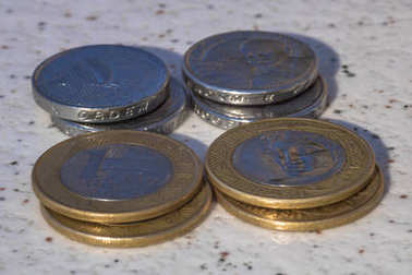Brazilian money real coins
