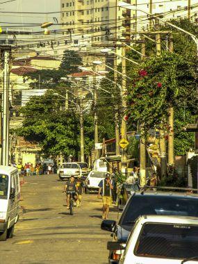 Sao Paulo, Brazil, January 24, 2007: Old Street in Periphery Sao Paulo city, Brazil