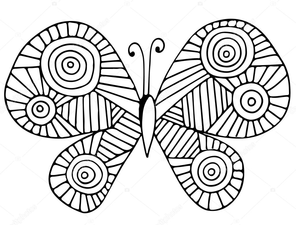 Mariposa abstracta de la tarjeta de felicitación, libro para ...