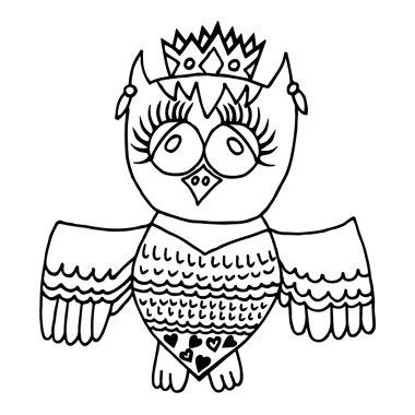 Cute owl in crone