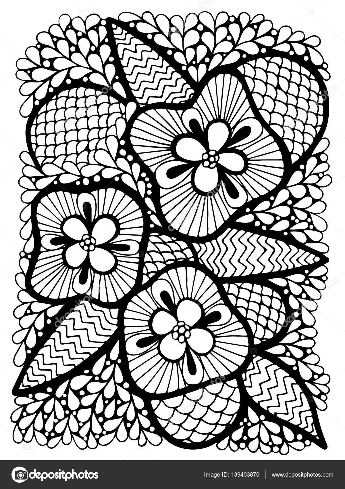 Flor abstracta con hojas — Vector de stock © ellina200@mail.ru ...