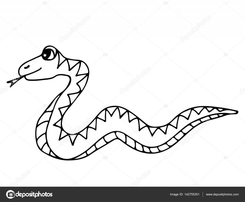 Linda serpiente aislado sobre fondo blanco — Archivo Imágenes ...