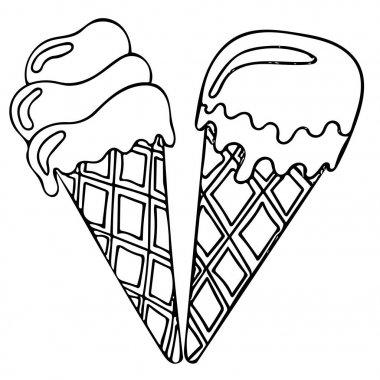 Sweet and tasty black line ice cream