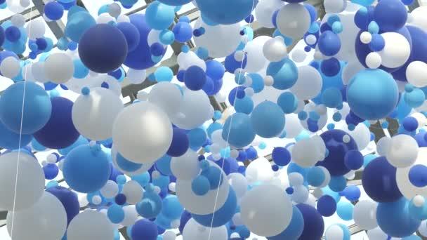 Bílé a modré bubliny ve vzduchu