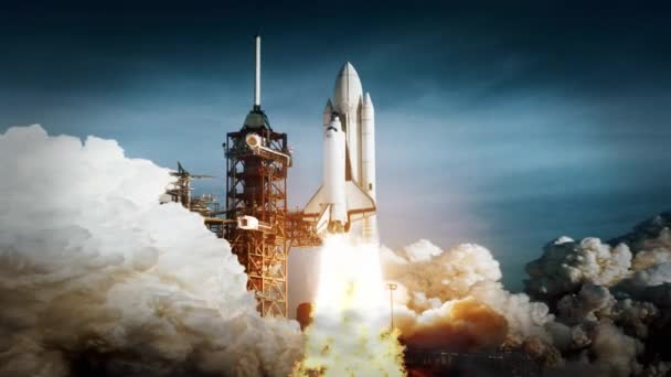 Space Shuttle Challenger Launch. launch of the spacecraft. some elements furnished by NASA images