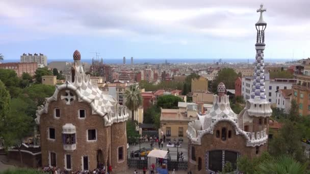 BARCELONA / SPAIN - OCTOBER 2, 2016: Beautiful Park Guell in Barcelona