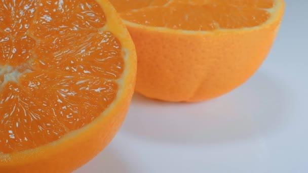 Fresh sliced orange - close up shot