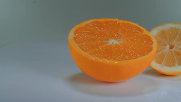 Orange and Lemon on a table - fresh and healthy fruits