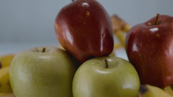 Fresh fruits - apples and bananas