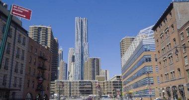 Frank Gehry Building in Manhattan New York - modern architecture- MANHATTAN - NEW YORK - APRIL 1, 2017