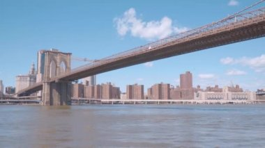 Amazing Brooklyn Bridge in New York - view from Brooklyn