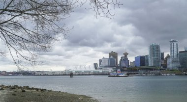 Vancouver skyline - view from Stanley Park - VANCOUVER - CANADA - APRIL 12, 2017