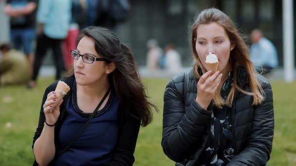 Odpočiňte si v parku přátel se zmrzlinou