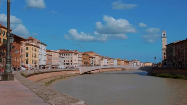 The wonderful city center of Pisa with River Arno