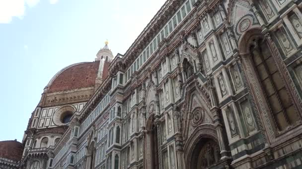 Santa Maria del Fiore Firenzében a Dóm tér - legnagyobb attrakció a város - Tuscany-székesegyház