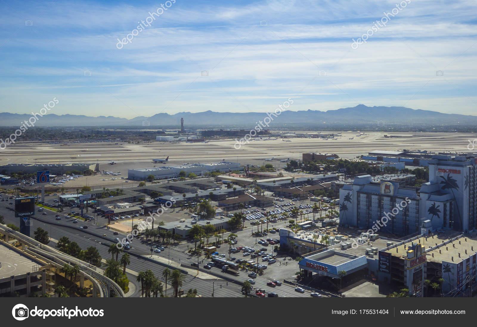 Vista Aérea Del Strip Las: Aeroporto McCarran Las Vegas