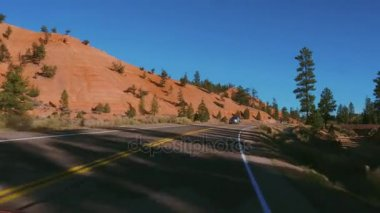 Beautiful scenery along the country roads in Utah - Red Canyon