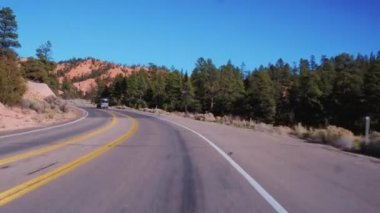 The beautiful Red Canyon in Utah - wonderful scenic roads
