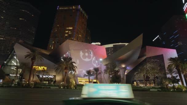 Commerciale di cristalli e moderni alberghi a Las Vegas strip - Las Vegas-Nevada, 11 ottobre 2017