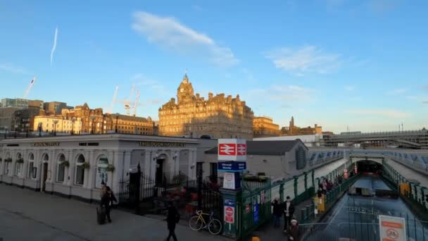 Waverly station in Edinburgh - EDINBURGH , SCOTLAND - JANUARY 11, 2020