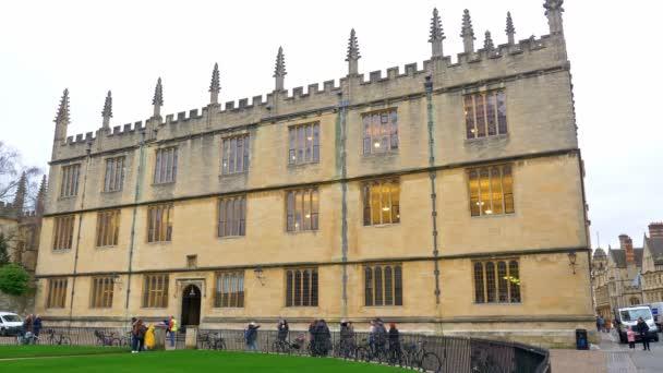 Bodleian Library in Oxford England - Oxford, Velká Británie - 3. ledna 2020